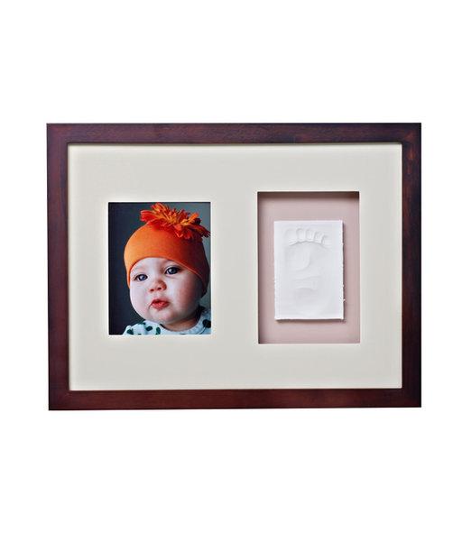 Baby Memory Print 011 Рамка за стена и отливка махагон